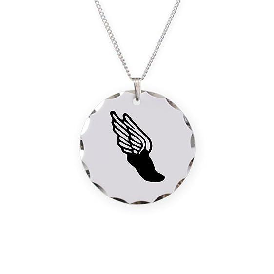 Amazon Cafepress Winged Foot Hermes Symbol Charm Necklace