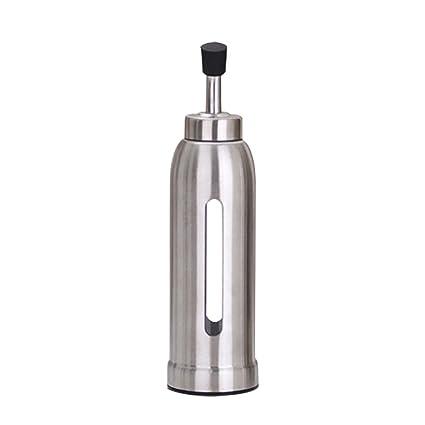 Botella de dispensador de aceite de acero inoxidable Caño de aceite de oliva Botella de dispensador