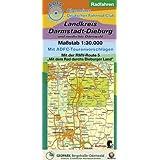 """Radfahren - Landkreis Darmstadt-Dieburg und nördlicher Odenwald: Maßstab 1:30.000. Mit ADFC-Tourenvorschlägen. Mit der RMV-Route 5 """"Mit dem Rad durchs Dieburger Land"""""""