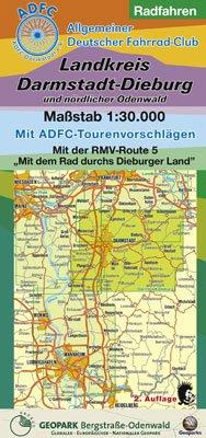Radfahren - Landkreis Darmstadt-Dieburg und nördlicher Odenwald: Maßstab 1:30.000. Mit ADFC-Tourenvorschlägen. Mit der RMV-Route 5