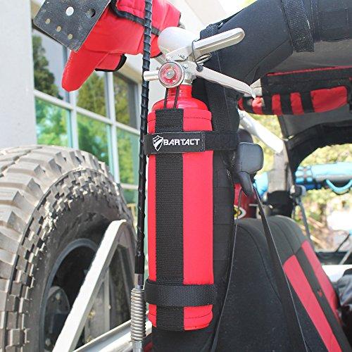 Bartact 2.5 lb Roll Bar Fire Extinguisher Holder - Steel Brackets - Red