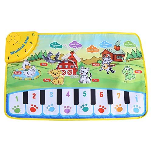 Fdit Estera de Piano de Bebé Juquetes de Alfombrilla de Música Manta de Música Multifuncional para Bebé y Niños con...