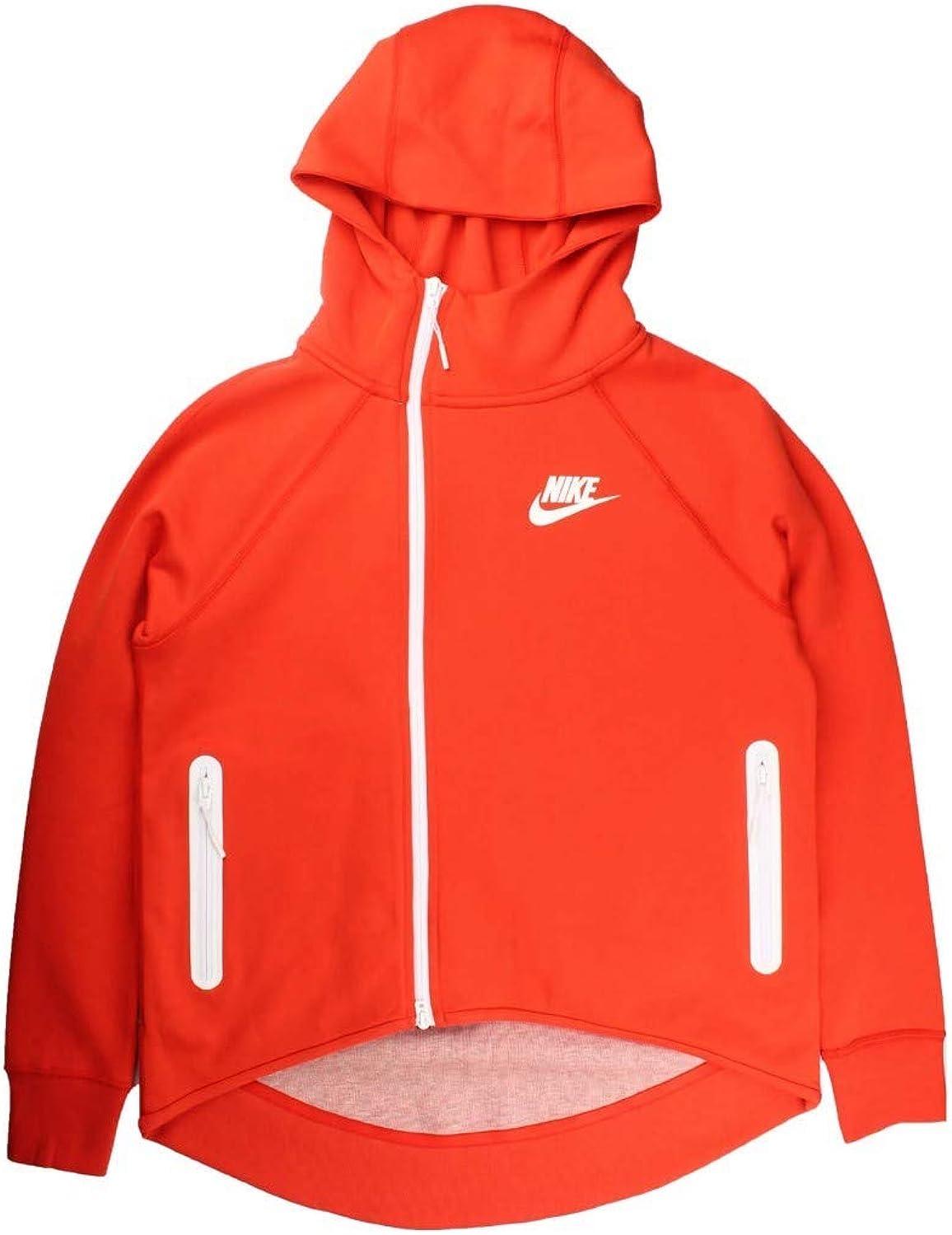 Nike Sportswear Tech Fleece Full Zip Cape Women S Hoodie Habanero Red Size Xl 930757 634 At Amazon Women S Clothing Store