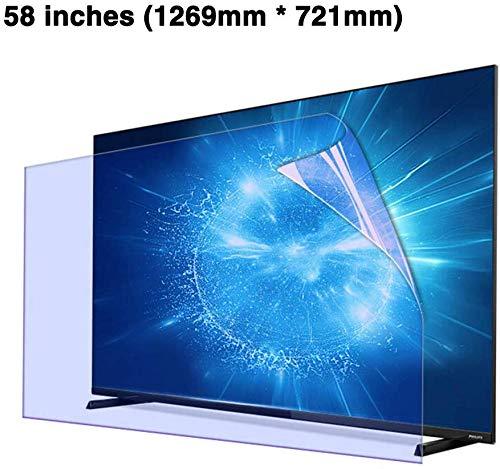 BYCDD 58 Pulgadas Anti-BLU-Ray TV Protectores de Pantalla, Anti ...