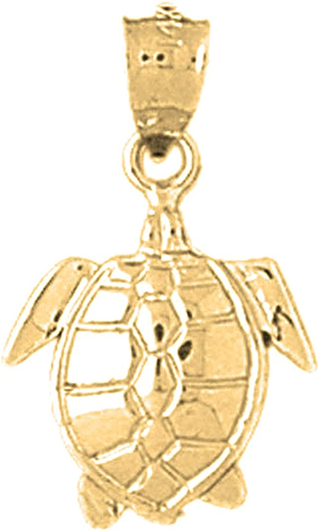 14K Yellow Gold-plated 925 Silver Turtles Pendant Jewels Obsession Silver Turtles Pendant
