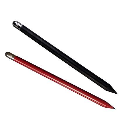 Argento Flybiz Attivo Precisione 1.45mm 2-in-1 Penna Pennino Capacitivo Touch Screen Stilo per iPad con Punta di Fibra per Dispositivi Schermi Touch iPhone Tablet