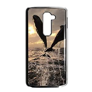 Dolphin LG G2 Cell Phone Case Black P6675170