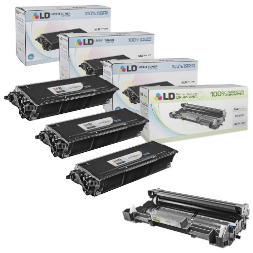 (LD Compatible Toner Cartridge & Drum Unit Replacements for Brother TN650 High Yield & DR620 (3 Toners, 1 Drum, 4-Pack))