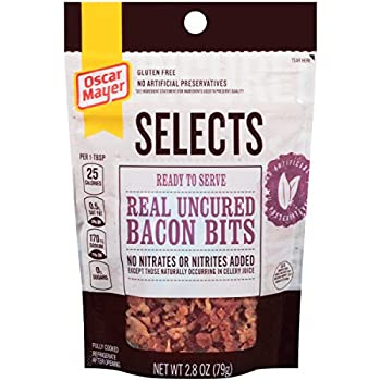 Oscar Mayer, Selects, Real Uncured Bacon Bits, 2.8oz Pouch (Pack of 4)