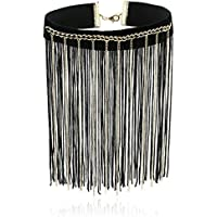 Choker Velvet Fringe Necklace