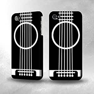 Apple iPhone 4 / 4S Case - The Best 3D Full Wrap iPhone Case - Acoustic Guitar Minimalism