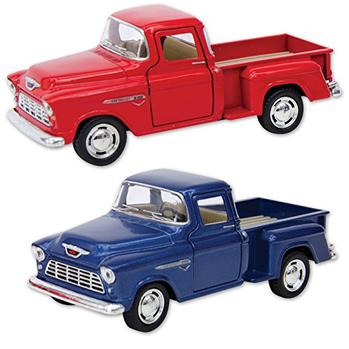 1955 Chevy Stepside Pick-Ups - Only one included - Die Cast - Available in Red or Blue ()