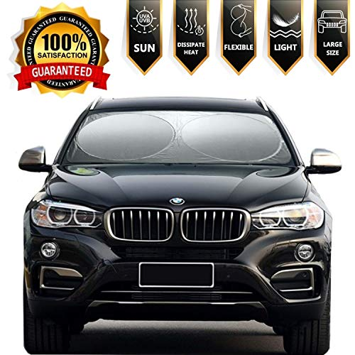 Windshield Sun Shade Cover Visor Protector Sunshades Covers Awning Shades- for Car SUV Truck Universal Fit 63 X 34 inches ...