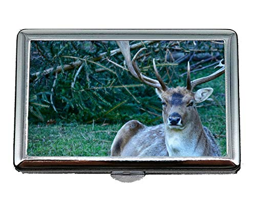 Pocket Case/Cigarette Case,Antler Male Lying in The, used for sale  Delivered anywhere in Canada