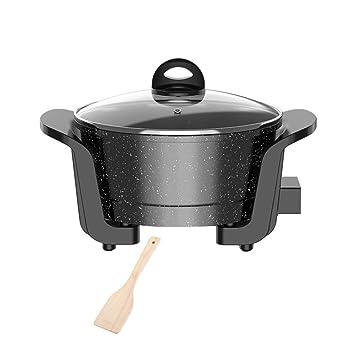 Fondue Hot Pot parrilla eléctrica, Negro Médico Piedra mini ...
