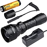 Evolva Future Technology T38 IR 38mm Lens Infrared Flashlight Light Night Vision Torch - Infrared Light is Invisible to Human Eyes (Torch+Battery+Charger+Rat Tail)