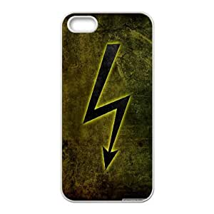 Electricity Sign IPhone 5,5S Cases, Case for Iphone 5s for Girls Kawaii Okaycosama - White
