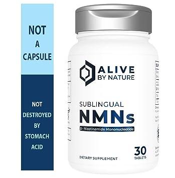 Alivebynature Sublingual NMN (Nicotinamide Mononucleotide) - 125 x 30 Fast Dissolve Tablets
