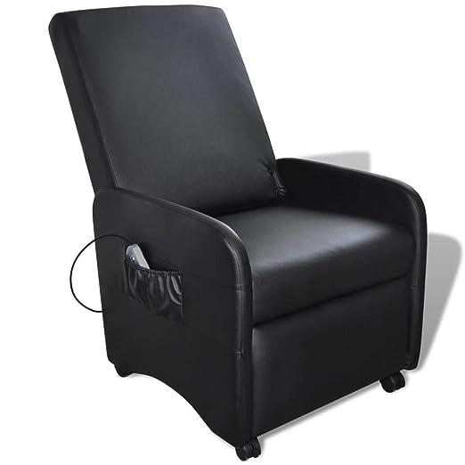 vidaXL Sillón reclinable de Cuero Artificial Piel Sintetica ...