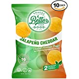 Besser Than Good Snacks - Jalapeno & Cheddar Veggie Protein Puffs 16g Protein - 2 Serving of Fruits & Veggies, Low Carb, Low Sugar, 110 Calories Keto Friendly, Healthy Diabetic Snack