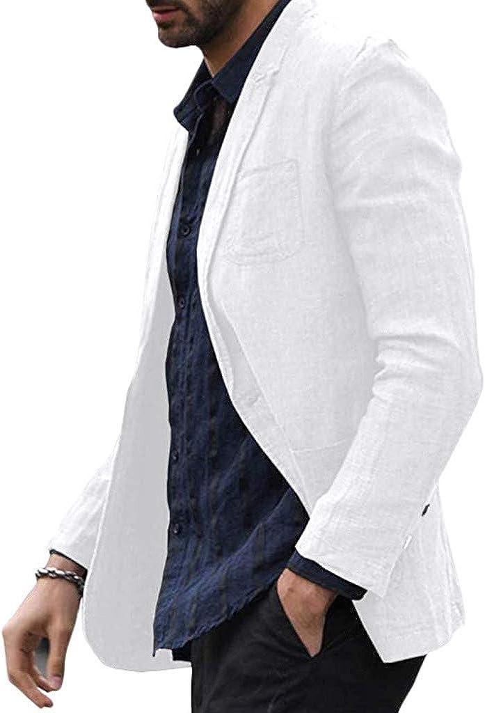 JiaMeng Blazer Casual para Hombre Chaquetas de Traje Slim Fit ...