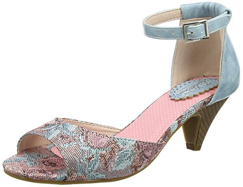 blue Sevilla Pink Pumps A Multi Schuhe Joe Browns Frauen Sonntag in Knöchelriemen Multicolor PwAva0