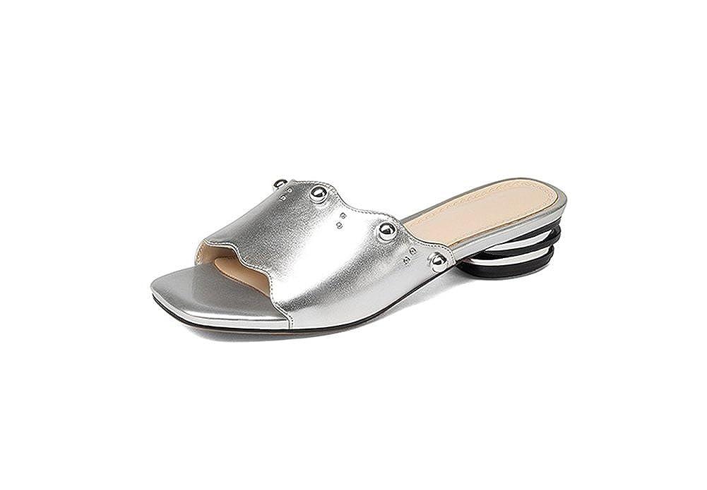 argentoo weiwei Lady di Pantofole con Una Parola,Moda Seali Grezzi in Estate