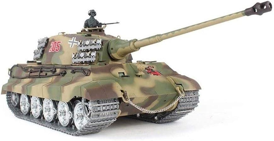 La Simulaci/ón De Sonido//Acci/ón Y El H La Segunda Guerra Mundial Hunter Shell King Tiger Tanque De 2,4 GHz De Control Remoto Modelo De Escala 1//16 AEDWQ RC Remoto del Tanque De Control Metal Track