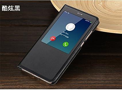 wholesale dealer 233ba 1052b LEMCAS S-View Smart Leather Flip Cover for Xiaomi Redmi Note 4