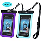 Universal Waterproof Case - Ansot IPX8 Waterproof Phone Pouch - Cellphone Dry Bag for iPhone X/8/ 8plus/7/7plus/6s/6/6s plus Samsung galaxy s8/s7 Google Pixel 2 HTC LG Sony MOTO up to 7.0' -- 2 PACK