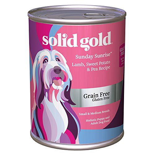 Solid Gold Grain-Free Wet Dog Food; Sunday Sunrise with Real Lamb & Sweet Potato, 12ct/13.2oz can
