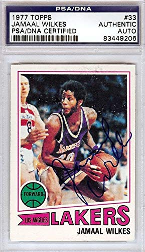 a728718614c Jamaal Wilkes Autographed 1977 Topps Card  33 Los Angeles Lakers  83449206  - PSA