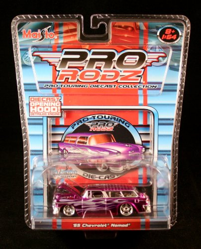 '55 CHEVROLET NOMAD * PURPLE * Maisto Pro Rodz Pro-Touring Die-Cast Collection 1:64 Vehicle -