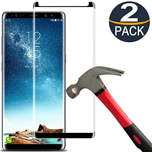 [2 Pack]Samsung Galaxy Note 8 Screen Protector Tempered Glass Film[Case Friendly][Anti-Bubble][3D Curved][3d Full Coverage][9H Hardness][HD Clear]Tempered Glass Screen Protector for Galaxy Note8