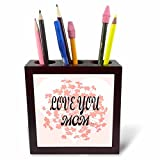 3dRose RinaPiro Love Mom Sayings - Love you Mom. - 5 inch tile pen holder (ph_273566_1)