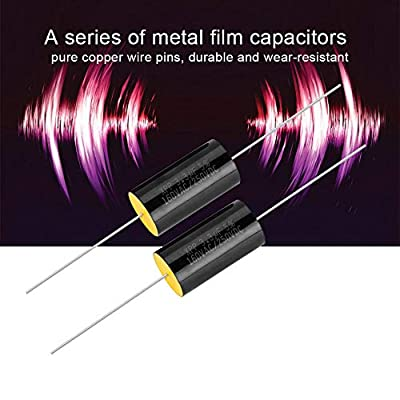 Zerone 2PCS Capacitor Frequency Divider Capacitance Audio Speaker Capacitor with Pure Copper Wire Pins(3.3uF): Electronics
