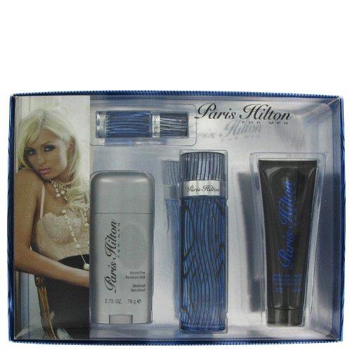 Paris Hilton Gift Set -- 3.4 oz Eau De Toilette Spray + 3 oz Body Wash + 2.75 oz Deodorant Stick + .25 Mini EDT Spray by Paris Hilton (Paris Wash Body Hilton)