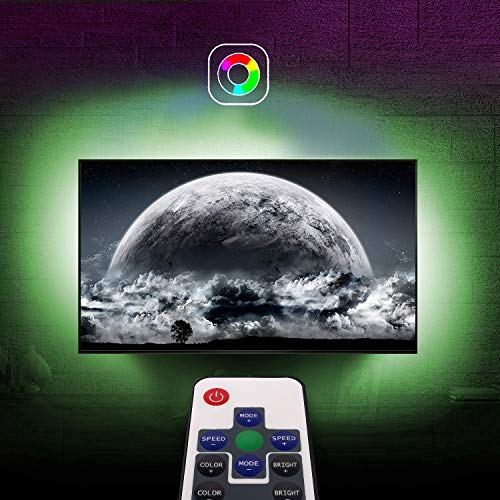Best Selling TV LED Backlights with 2 RF Remote Controlle, 2M/6.6ft RGB Color Changing Light Strip Kit for 24-60in HDTV with USB Bias Lighting, HDTV 4 Side Variable 18 Colors and 20 Dynamics (Best Selling Tv Products)