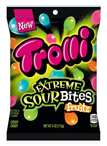 Extreme Fruit (Trolli Extreme Sour Bites Fruitz, Assorted Fruit Flavors, 4 Ounce)