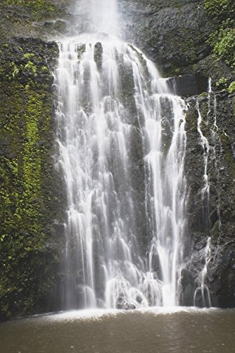 Posterazzi Waterfall Hana Maui Hawaii Usa Poster Print (12 x 19)