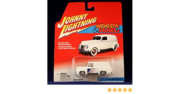 JOHNNY LIGHTNING CUSTOM WOODYS /& PANELS /'55 FORD PANEL DELIVERY RED