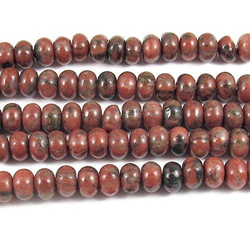 (RED Sesame Jasper Rondelle Beads 15