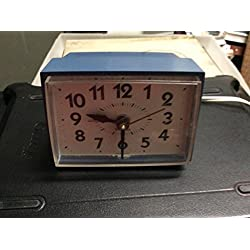 ,Vintage Powder Blue Westclox 189 H Electric Alarm Clock NOT A LIGHTED DIAL
