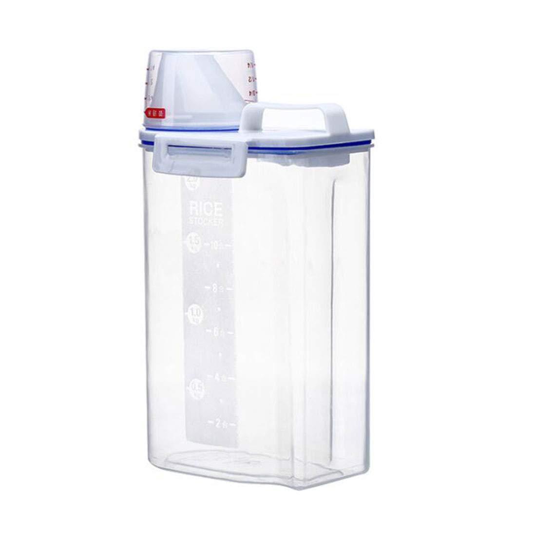 WTY Cat food storage box, dog food storage barrel   moisture-proof grain storage barrel sealed tank pet moisture-proof box transparent barrel.