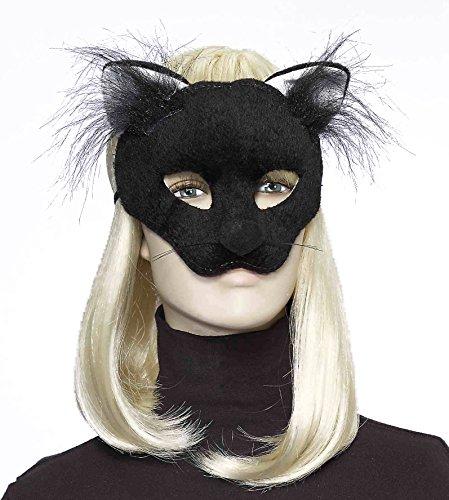 Forum Novelties Women's Plush Cat Mask, Black, One Size
