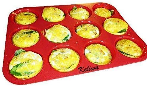 Keliwa's 12 Cup Silicone Muffin Pan