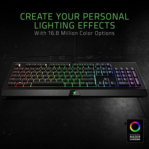 Razer Cynosa Chroma Gaming Keyboard: 168 Individually Backlit RGB Keys – Spill-Resistant Design – Programmable Macro Functionality – Quiet & Cushioned 51r10uzRlPL