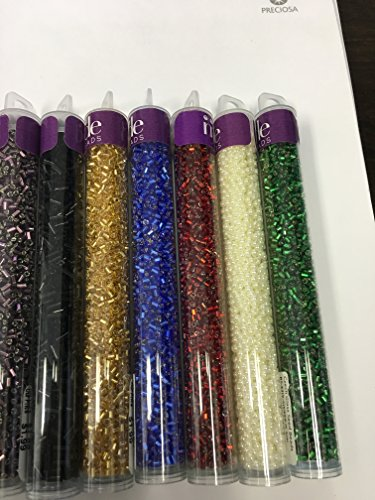 Sapphire Seed Pearl (Czech Seed Beads In 5inch Tubes 20 gram tube set 7)