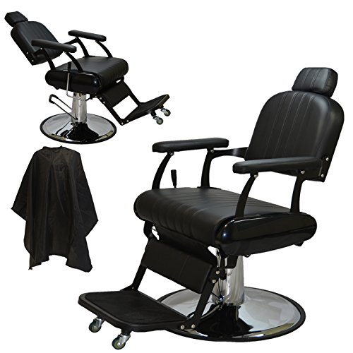 LCL Beauty Extra Large Classic Style Reclining Hydraulic Barber Salon Cutting Chair