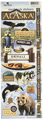 Paper House Productions STCX-0159E Travel Cardstock Stickers, Alaska 2 (6-Pack)